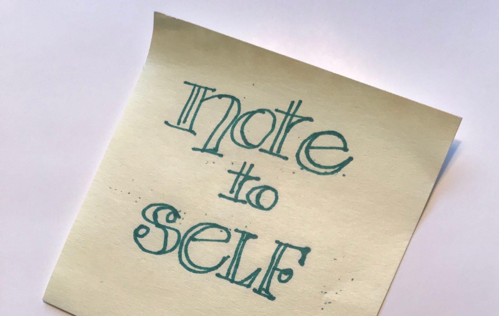 note to self featured image